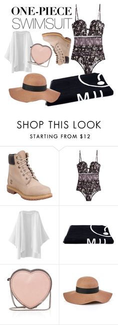 """One Piece Competition"" by demixb on Polyvore featuring Timberland, Zimmermann, Moschino, STELLA McCARTNEY, Reiss and onepieceswimsuit"