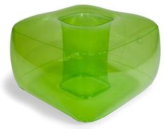 Inflatable Footrest in Green Green Ottoman, Cool Bean Bags, Teen Birthday, Bat Mitzvah, Foot Rest, Tech Accessories, Game Room, Playroom, Bubbles