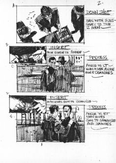 Storyboard sequence from ''Topaz''.