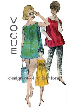 1960s Vintage Vogue 5911 Maternity One by DesignRewindFashions, $15.00