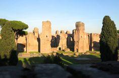 The Baths of Caracalla in Rome, seen via a vespa!