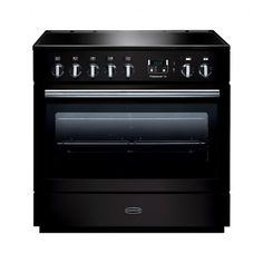 Rangemaster 91130 Professional FX 90cm Dual Fuel, Single Oven Range Cooker in Black and Chrome. Call 01302 63 88 05 for prices.