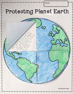 This free Earth template printable is perfect for the study of the solar system or Earth Day. Students can cut the template to create flaps, allowing them to write underneath once it's glued to a piece of paper or into a notebook.