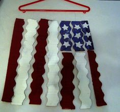 American Flag Mobile post created for Not Just Cute  http://notjustcute.com/2012/06/26/book-activity-the-pledge-of-allegiance/
