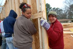 Each year, more than 100 Cobbers spend their mid-semester breaks helping those in need across the United States and internationally through Habitat for Humanity.