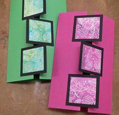 Hobbyboden's Blog: How-to: Gatefold-card med firkanter