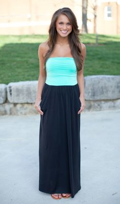 The Pink Lily Boutique - All Night Long Black Colorblock Maxi, $38.00 (http://thepinklilyboutique.com/all-night-long-black-colorblock-maxi/)