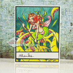 Fearless Fairytales Little Mermaid available at Little Miss Muffet Stamps #LMMS #littlemissmuffetstamps #rubberstamp