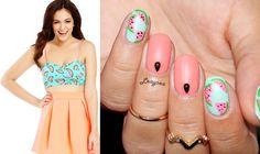 Watermelon nail design!