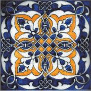 Portuguese Ruan Tile are hand-painted using traditional glaze techniques and colors. Decorative patterns include borders, medallions and accent dots. Painting Ceramic Tiles, Tile Art, Mosaic Tiles, Ceramic Art, Modern Flooring, Flooring Ideas, Terracota, Portuguese Tiles, Iron Work