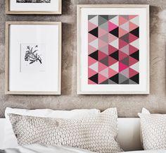 Lámina decorativa patrón geométrico - arte e ilustraciones - decoración del hogar - hecho a mano en DaWanda.es