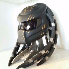 Черный оранжевый коготь хищник мотоцикл горошек шлем байкер пользовательский размер s m l xl xxl