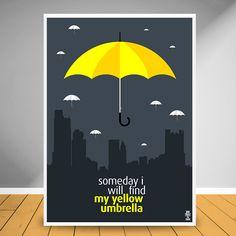"""O guarda-chuva amarelo se tornou a principal representação do amor de Ted (protagonista do seriado How I Met your Mother) pela sua futura esposa.  O objeto se tornou o símbolo do relacionamento mesmo antes dele vir a acontecer. O seriado está chegando ao final, mas as lembranças desse guarda-chuva nenhuma tempestade irá destruir.  O Quadro """"HIMYM Yellow Umbrela"""" é simplesmente LEGENDARY.  É exclusivo, é original, é SemPrint!"""