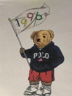 Ralph Lauren 1996 Olympics Polo Bear T Shirt Hip Hop Streetwear Vintage Unisex Tee Rare Dope Cartoons, Dope Cartoon Art, Ralph Lauren Love, Ropa Hip Hop, Arte Hip Hop, Hip Hop Outfits, Dope Outfits, Bear Wallpaper, Trendy Wallpaper
