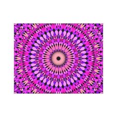Pink and Purple Gravel Mandala Canvas Print Mandala Canvas, Mandala Print, Pink Canvas Art, Canvas Art Prints, Country House Interior, Interior Modern, Cosy Bedroom, Bohemian Flowers, Home Decor Quotes