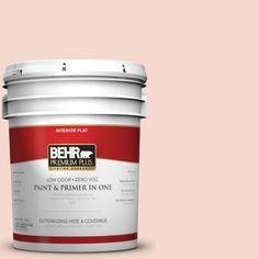 BEHR Premium Plus 5-gal. #M190-1 Pink Sea Salt Flat Interior Paint
