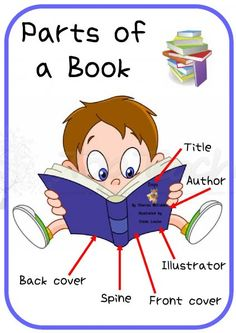 Parts of a book poster--great as a resource for students who want to write their own books in the writing station!