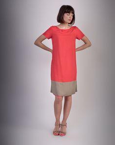 bdbbc1297fc Robe réversible petites manches Kaki  rouge - Casablanca