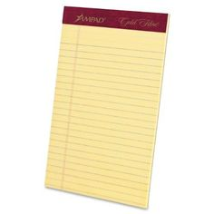 Ampad Gold Fibre Jr Legal Size Perforated Pad 5 x 8 Canary Yellow Paper Ruled 50 Sheets Per Pad 12 Pack 20004 ** You can find more details by visiting the image link.