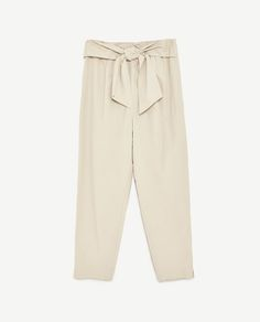 Image 8 of TIE-WAIST PRINTED TROUSERS from Zara