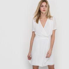 Wrap Dress, White Dress, Dresses, Fashion, White Dress Outfit, Fashion Styles, Wrap Dresses, Dress, Fashion Illustrations