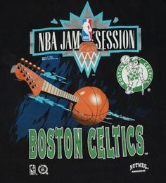 1994 NBA Jam Session Boston Celtics T-shirt. Celtics on Tour - SOLD OUT! Classic 1990s Shirt. Excellent pre-owned condition.