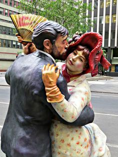 """Time for Fun,"" sculpture by Seward Johnson, on the Broadway Pedestrian Mall, New York City. Seward Johnson, Broadway Nyc, Pedestrian, New York City, Mall, Sculpture, Artist, Fun, Fictional Characters"