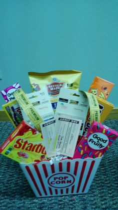 Silent Auction - Dinner and a Movie Date Night Basket