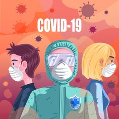 Wearing Mask To Protect From Corona virus! Design Plano, Medical Art, Poster Making, Art Inspo, Art Sketches, Vector Art, Infographic, Animation, Anime