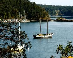 San Juan Islands, WA  Just like it's fresh from Sunset magazine. Forest and beach, whales and small towns. Totally bohemian and beautiful!