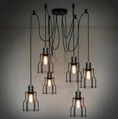 **SOLD**Our bulb chandelier home made