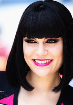 Jessie J  This hair style suits her so much.  And the colour as well.