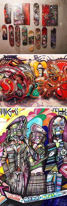 O graffiti do brasileiro Dingos