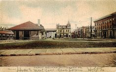 Monessen PA Depot Square Train Station etc Used 1907 | eBay