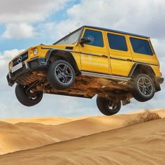 How would you push your Mercedes-AMG G 63 to the limits in the sun and sand? #MercedesAMG #AMG Mercedes #MercedesBenz #MercedesAMGG63 #G63AMG #G63 #Power #HighPerformance #Awesome #Auto #Yellow #Sun #Sand #Summer #InstaCool #InstaLove #Car #Cars #MBcar #Lifestyle [Mercedes-AMG G 63 | Fuel consumption combined: 13.8 l/100km | CO2 emission: 322 g/km | http://amg4.me/Efficiency-Statement]