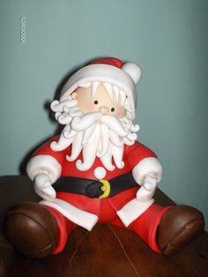 polymer clay porcelana fria pasta francesa masa flexible fimo gum paste pasta goma modelado figurine modelling topper biscuit christmas xmas pascua natal navidad santa