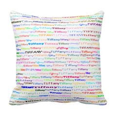 Tiffany Text Design II Throw Pillow