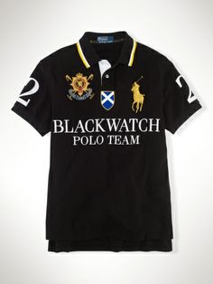Polo Ralph Lauren Men/'s Big /& Tall L//S Blackwatch Big Pony Mesh Custom Fit Polo