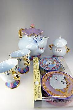 Disney Resort Limitado A Bela E A Fera, a Sra. Potts Pote E Chip Conjunto De Xícara De Chá in Colecionáveis, Colecionáveis Disney, Contemporâneos (1968 até o presente) | eBay