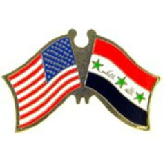 "American & Iraq Flags Pin 1"" by FindingKing. $8.50. This is a new American & Iraq Flags Pin 1"""