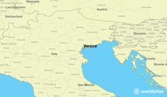 map showing the location of Venice