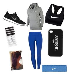 """Workout"" by katielovestosleep ❤ liked on Polyvore featuring NIKE, women's clothing, women, female, woman, misses and juniors"