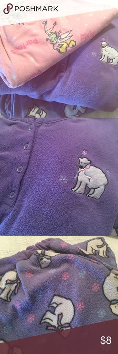 3X Fleece Pajama's Polar Bear Set; Tinkerbell Pant Though polar Bear set by Jockey is labeled XL, it must be a man's size because I wore these with ease when I was a 3X. Can't read some zen on Disney Tinkerbell Fleece bottoms, but I also wore these as a 3X. Wonderfully comfy and warm! I finally had to quite wearing them when they would no longer stay up!😁 They are obviously worn, but who cares when we go to bed? All I want is comfort, and that's what you'll get with this bundle, as well as…