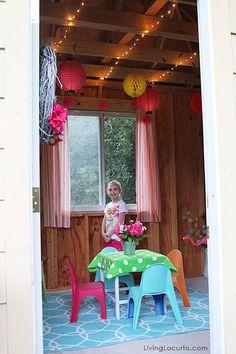 Adorable Tree House Tour & Fun Backyard Party Ideas. LivingLocurto.com