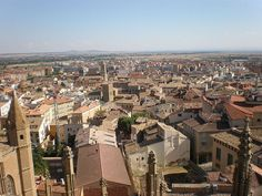 Huesca, Spain, as seen from the belfry of Huesca Cathedral