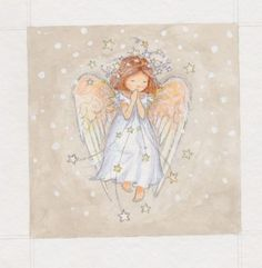 Leading Illustration & Publishing Agency based in London, New York & Marbella. Christmas Angels, Christmas Art, Engel Illustration, Clipart Noel, Angel Artwork, Angel Drawing, I Believe In Angels, Ange Demon, Angel Pictures