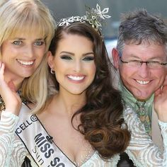 Rolene Strauss and her parents