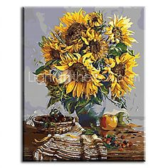 Hand Painted Oil Painting Floral with Stretched Frame Ready to Hang 2016 - £37.79