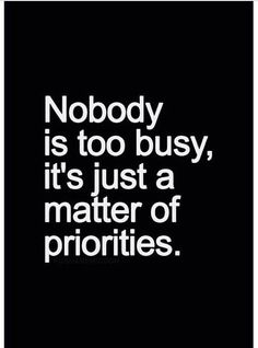FACT!!!!!! Priorities