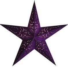 Starlightz Leuchtstern MONO VIOLETT LILA Papierstern Stern Weihnachtsstern